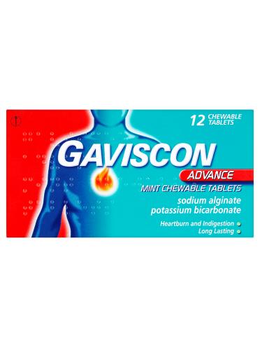 Gaviscon Advance Mint Chewable Tablets 12 Chewable Tablets