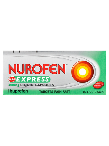 Nurofen Express 200mg Liquid Capsules 16 Liquid Caps