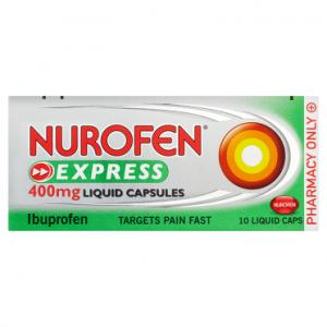Nurofen Express 400mg Liquid Capsules 10 Liquid Caps