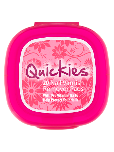 Quickies 20 Nail Varnish Remover Pads