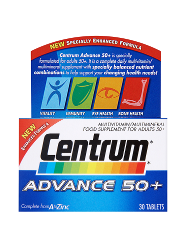 Centrum Advance 50+ 30 Tablets