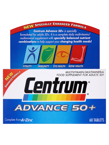 Centrum Advance 50+ 60 Tablets