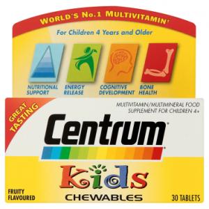 Centrum Kids Chewables 30 Fruity Flavoured Tablets