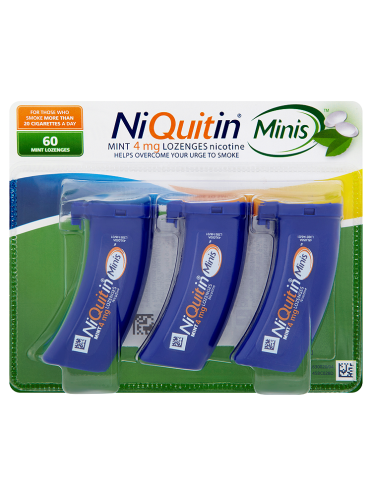 NiQuitin Minis Mint 4mg Lozenges 60 Lozenges