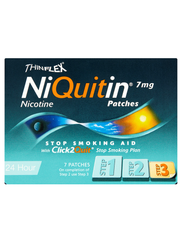 NiQuitin 7mg Patches 24 Hour Step 3 7 Patches
