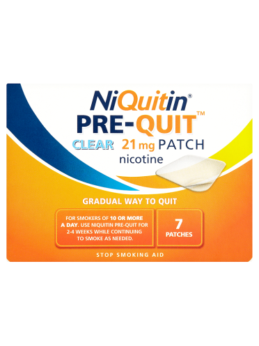 NiQuitin Pre-Quit Clear 21mg Patch 7 Patches