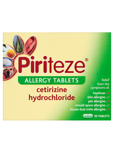 Piriteze Allergy Tablets 30 Tablets