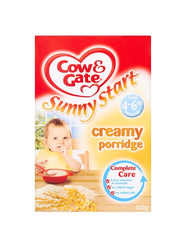 Cow & Gate Sunny Start Creamy Porridge from 4-6m Onwards 125g