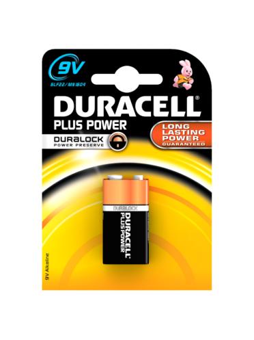 Duracell Plus Power 9V-Battery Alkaline 1x Pack