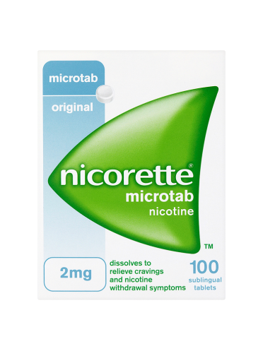 Nicorette Microtab Original 2mg Nicotine 100 Sublingual Tablets