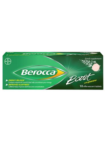 Berocca Boost with Guarana 10 Effervescent Tablets