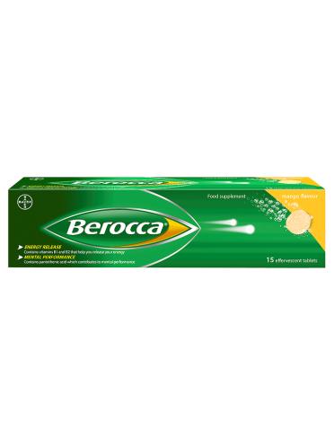 Berocca Mango Flavour 15 Effervescent Tablets
