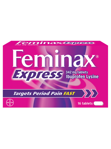 Feminax Express 342mg Tablets 16 Tablets