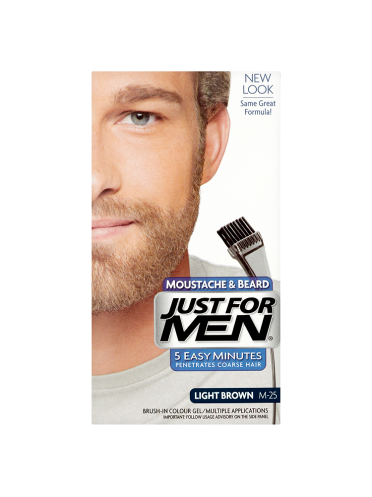 Just For Men Moustache & Beard Brush-In Colour Gel Light Brown M-25