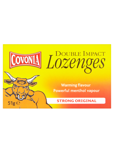 Covonia Double Impact Lozenges Strong Original 51g