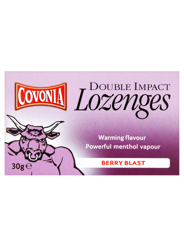 Covonia Double Impact Lozenges Berry Blast 30g