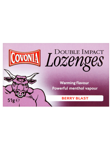 Covonia Double Impact Lozenges Berry Blast 51g