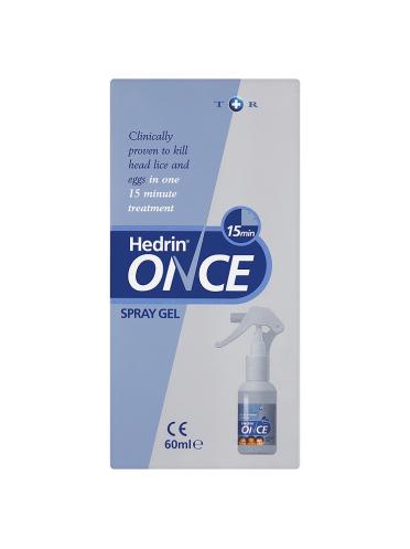 Hedrin Once Spray Gel 60ml