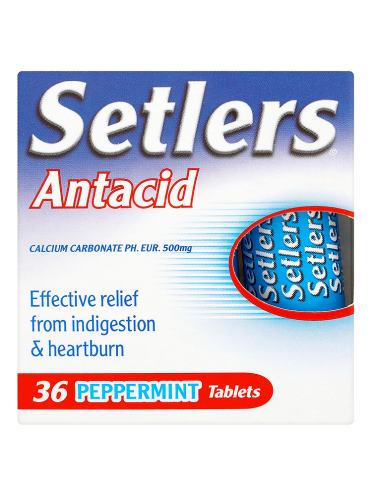 Setlers Antacid 36 Peppermint Tablets