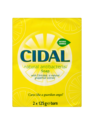 Cidal Natural Antibacterial Soap 2 x 125g Bars