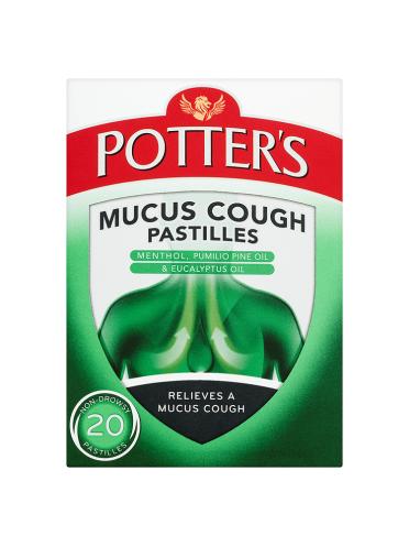 Potter's Mucus Cough Pastilles Non-Drowsy 20 Pastilles