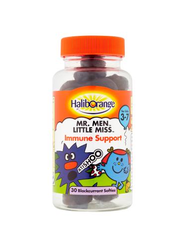 Haliborange Mr. Men Little Miss Immune Support 30 Blackcurrant Softies