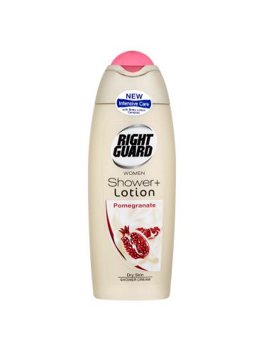 Right Guard Women Shower + Lotion Shower Cream Pomegranate 250ml