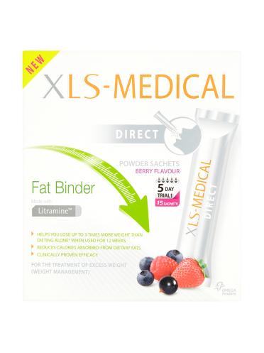 XLS-Medical Direct Fat Binder Berry Flavour Powder Sachets 15 Sachets x 2.6g