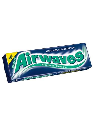 Airwaves Menthol & Eucalyptus Flavour Sugarfree Chewing Gum 10 Pellets 14g