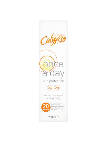 Calypso Once a Day Sun Protection 20 Medium 200ml