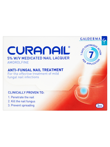 Galderma Curanail Anti-Fungal Nail Treatment 3ml