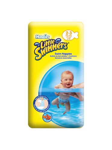 Huggies Little Swimmers Swim Nappies Size 2-3 3kg-8kg, 7lb-18lb 12 Pants