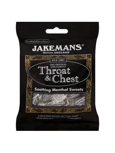 Jakemans Throat & Chest Soothing Menthol Sweets 100g
