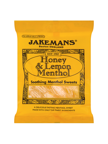 Jakemans Honey & Lemon Menthol Soothing Menthol Sweets 100g