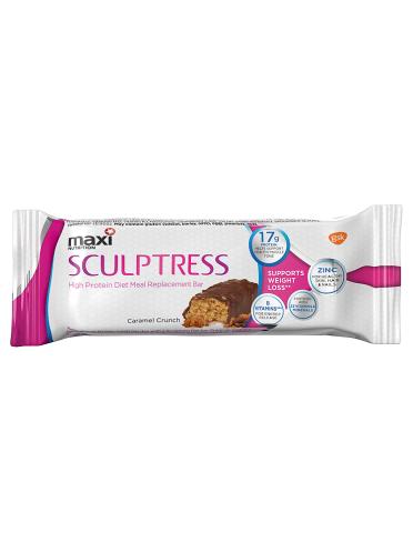 Maxi Nutrition Sculptress High Protein Diet Meal Replacement Bar Caramel Crunch 60g