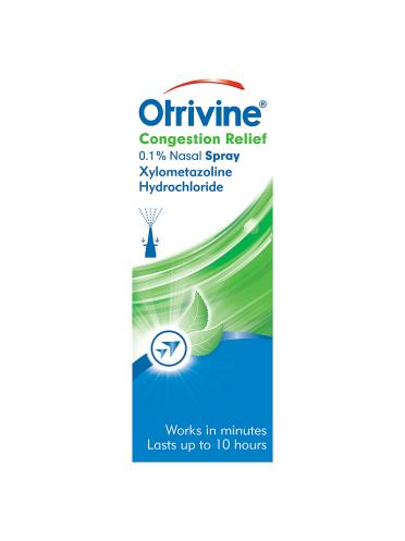 Otrivine Congestion Relief 0.1% Nasal Spray 10ml