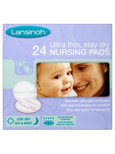 Lansinoh Ultra Thin, Stay Dry 24 Nursing Pads