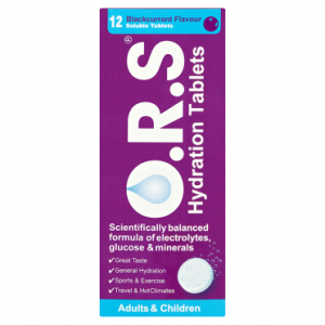 O.R.S Hydration Tablets Adults & Children 12 Blackcurrant Flavour Soluble Tablets