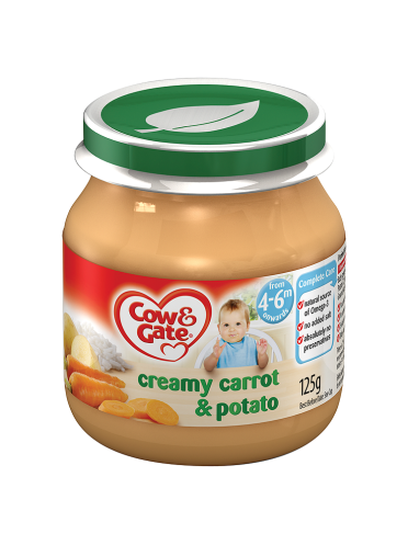 Cow & Gate Creamed Carrot & Potato from 4-6m Onwards 125g