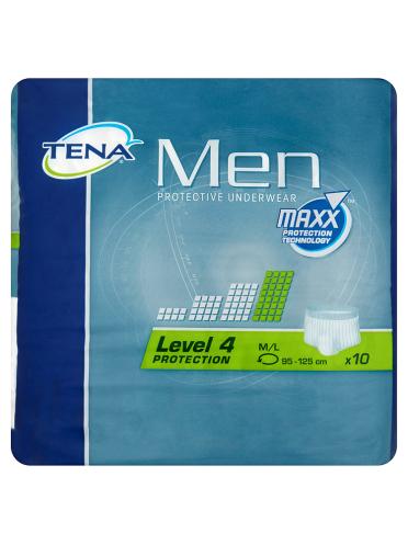 TENA Men 10 Protective Underwear Level 4 M/L 95-125cm