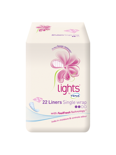 lights by TENA 22 Liners