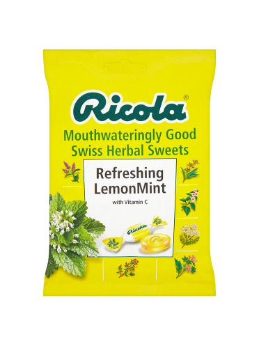 Ricola Mouthwateringly Good Swiss Herbal Sweets Refreshing Lemon Mint 70g