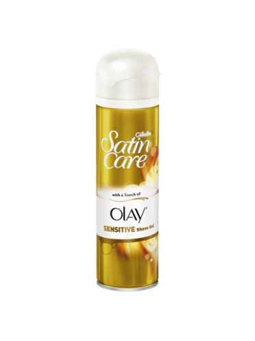 Gillette Satin Care With Touch Of Olay Sensitive Shave Gel 200ml