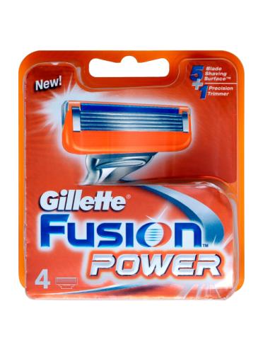 Gillette Fusion Power Men's Razor Blades, 4 Count